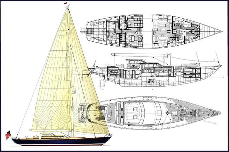 Sailing yacht MARAE -   Layout