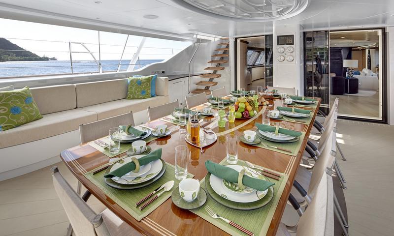 Sailing yacht MONDANGO 3 - Cockpit Breakfast Image by Chris Lewis