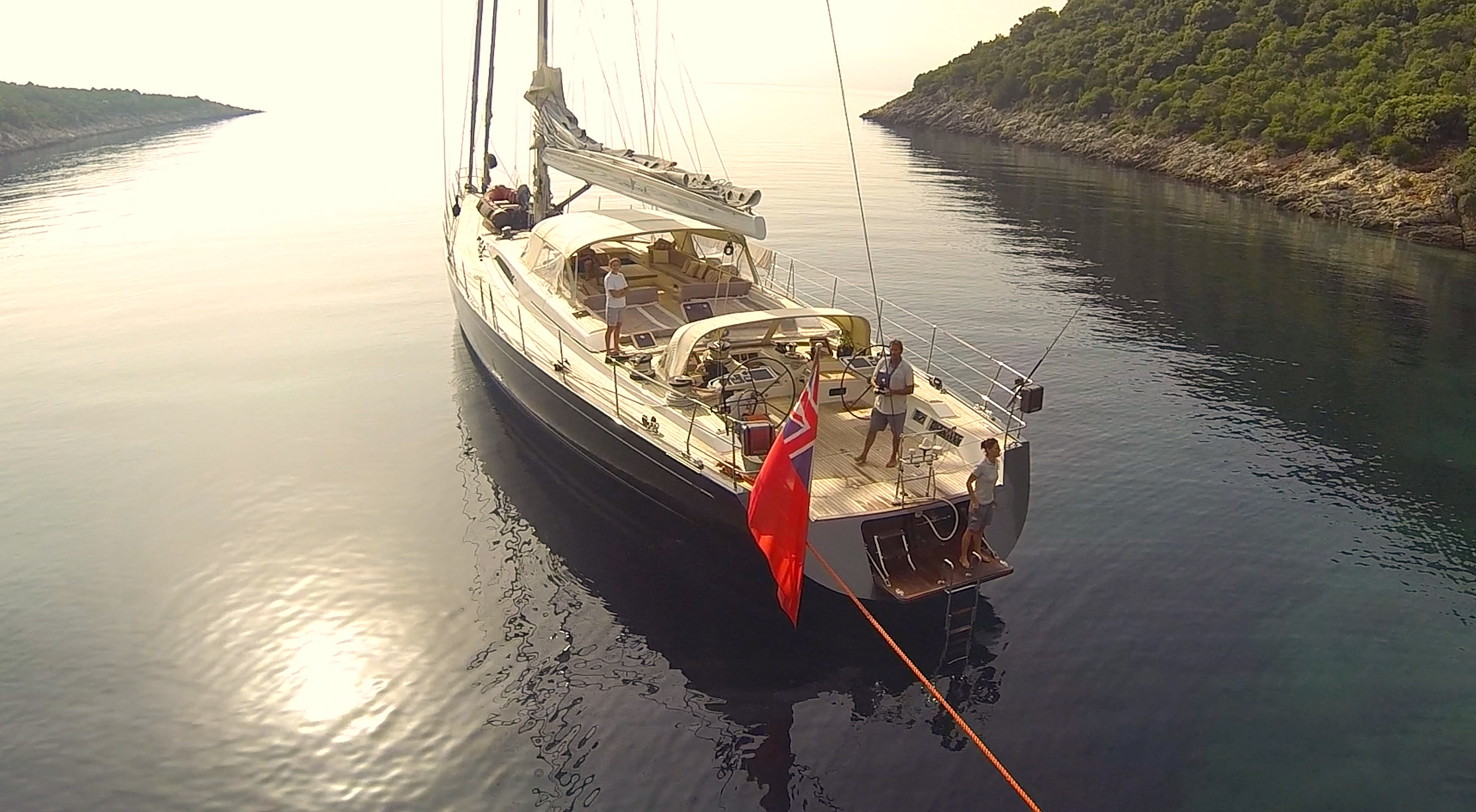 Sailing yacht MRS MARIETTA CUBE - At Anchor