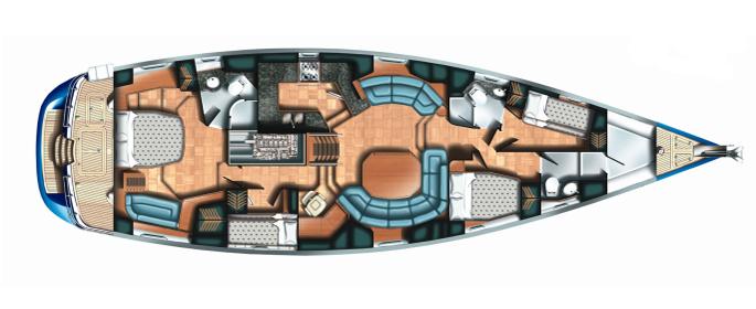 Sailing yacht NEKI -  Layout