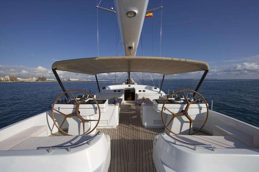 Sailing yacht Nephele -  Cockpit and Helm