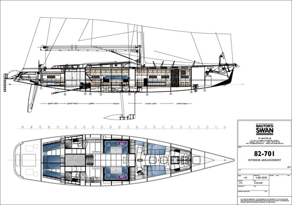 Sailing yacht POLYTROPON II -  Layout