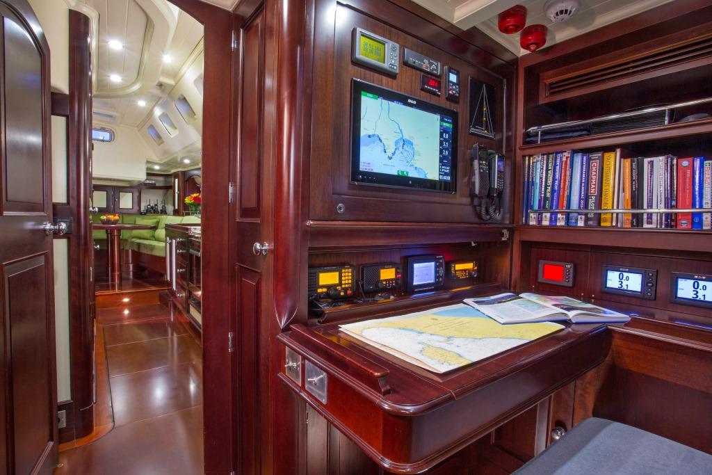 Sailing yacht SAVARONA - Navigation table