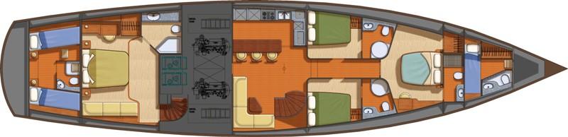 Sailing yacht TANGO CHARLIE - Layout