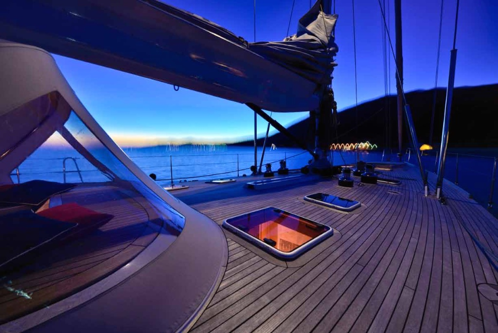 Sailing yacht TESS - Forepeak at Night