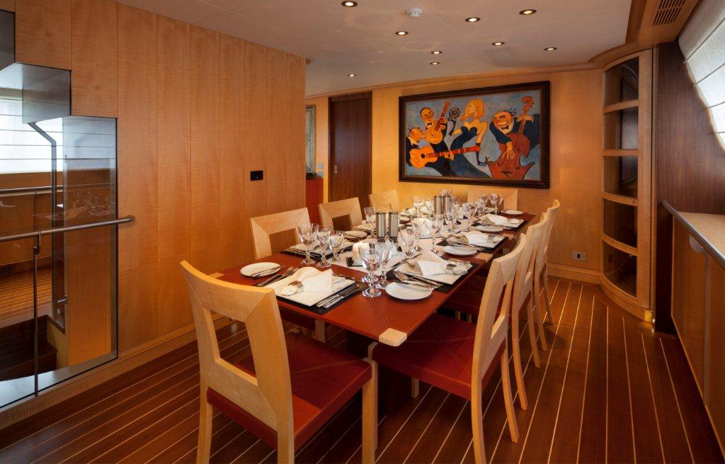 Sailing yacht VICTORIA -  Formal Dining