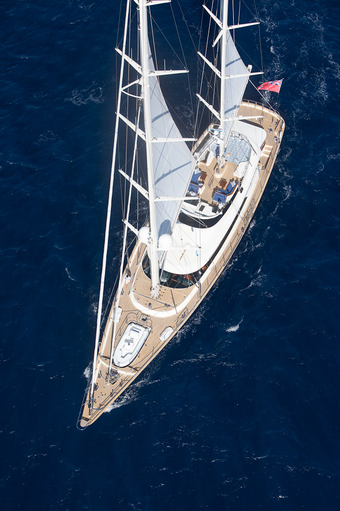 Sailing yacht VICTORIA -  From Above