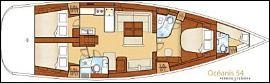 Sailing yacht VOILA -  Layout
