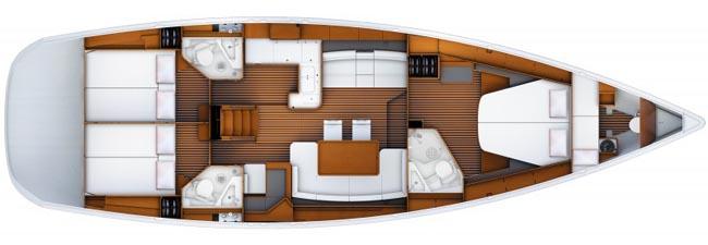 Sailing yacht ZUMA - Layout