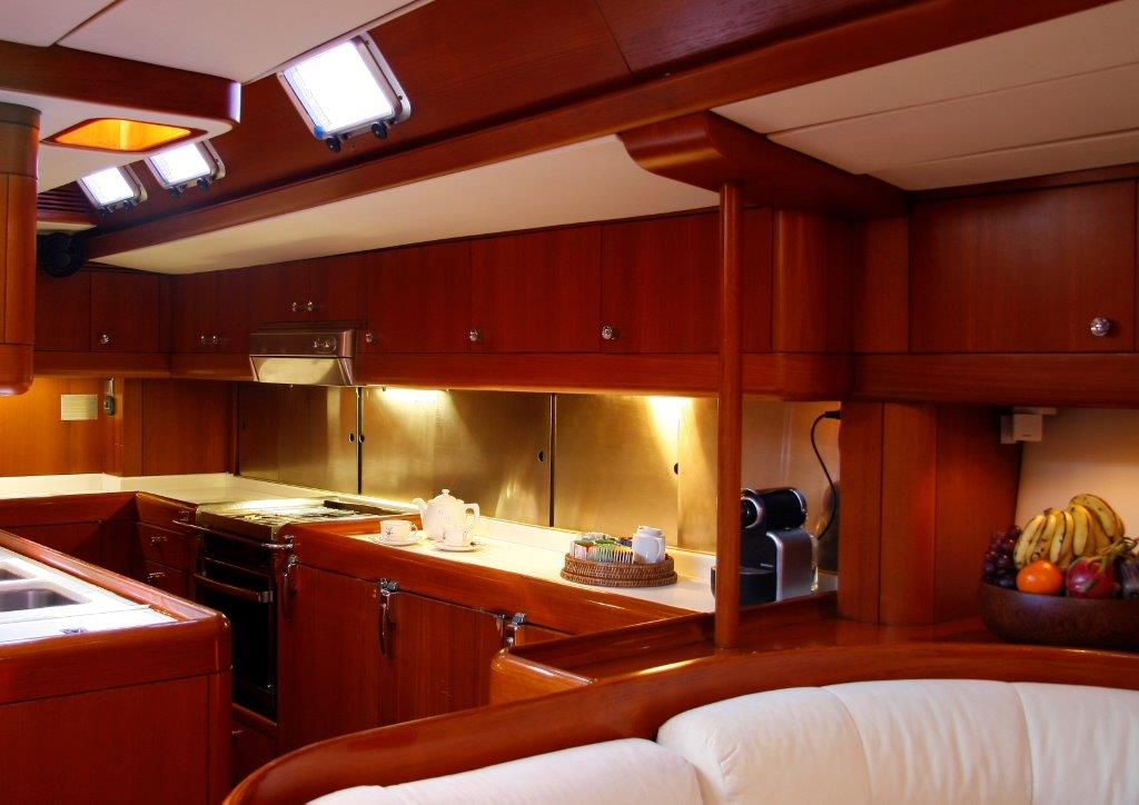 South East Asia charter yacht Aspiration - Galley