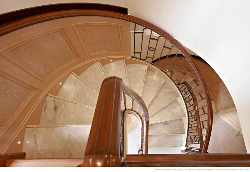 Spiral Staircase Calliope Motoryacht