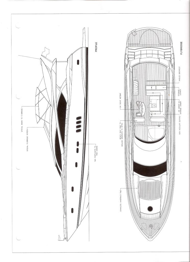 Sunseeker Yacht PHOEBE TRES -  Deck Plan
