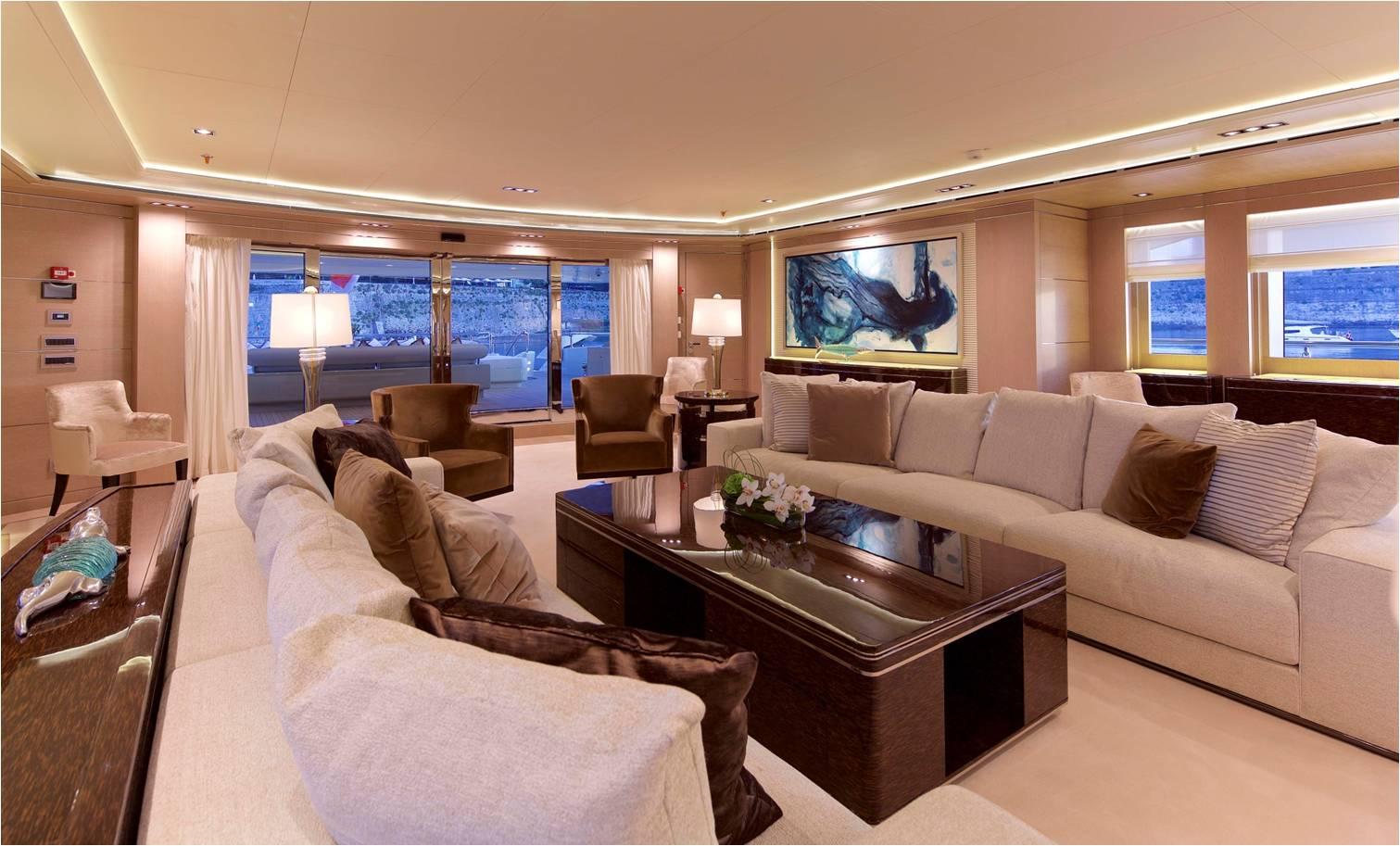 Super Yacht O'PARI3 - Salon