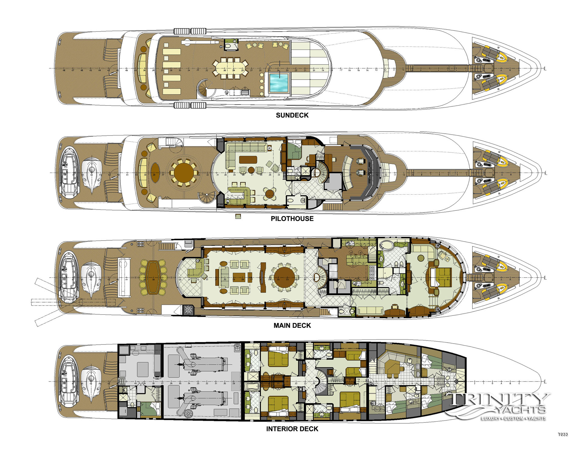Sun image gallery luxury yacht browser by charterworld for The world deck plans