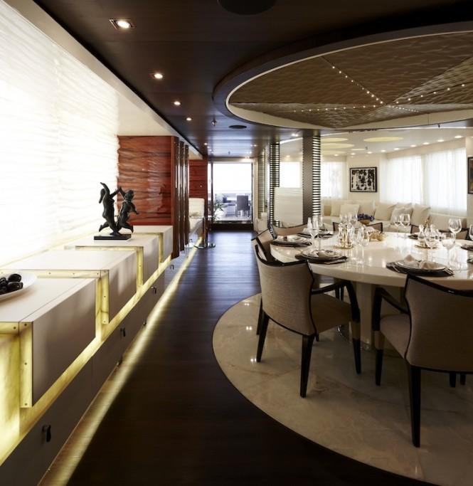 Superyacht E&E Dining Area - Credit Art-Line