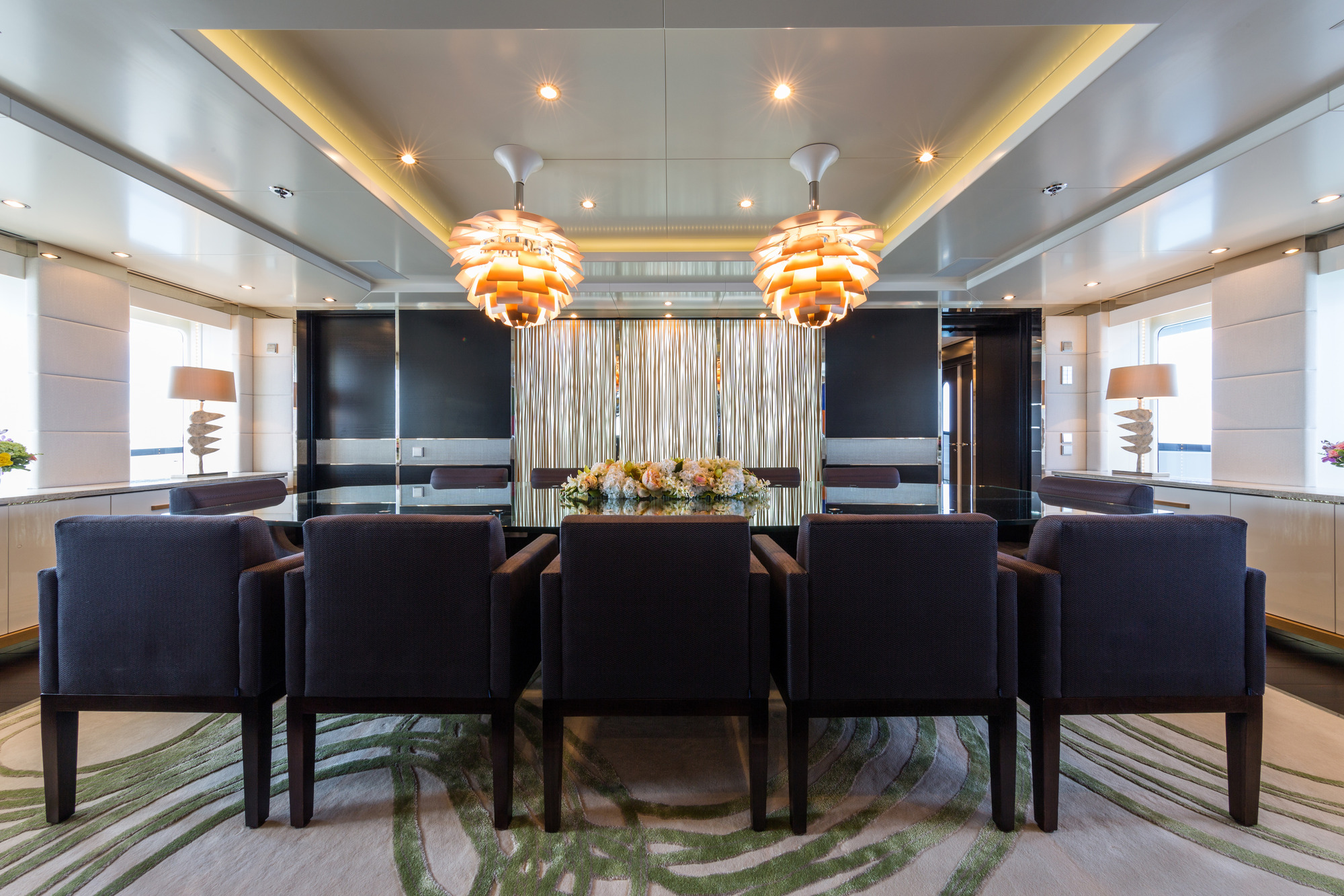 Superyacht ELYSIAN - Formal dining