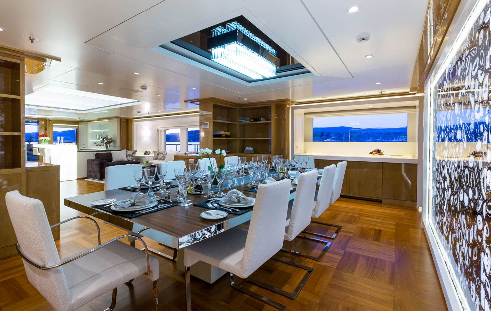 Superyacht GALAXY -  Formal Dining