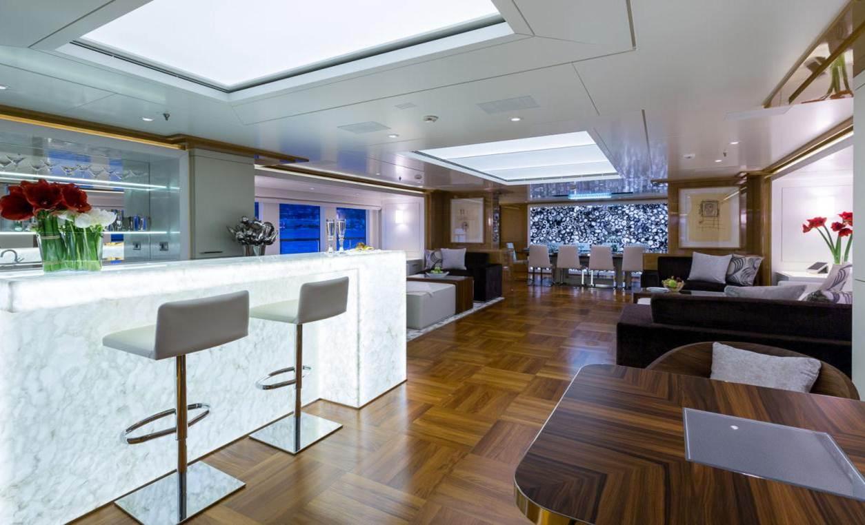 Superyacht GALAXY -  Salon and Bar
