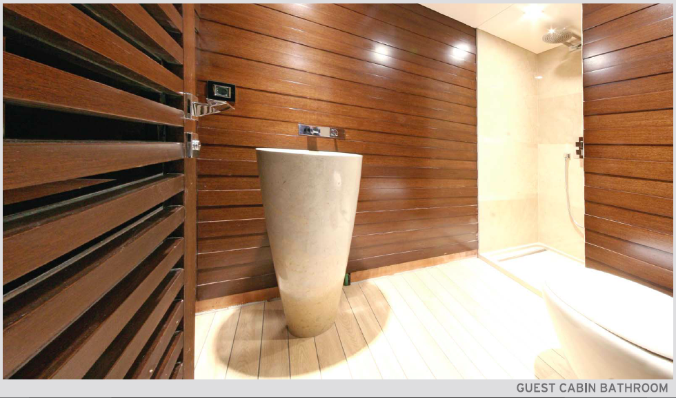 Superyacht Infinity - Guest Bathroom - - Credit to Cobra Yachts
