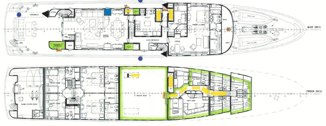 Superyacht MALIBU - Layout 2