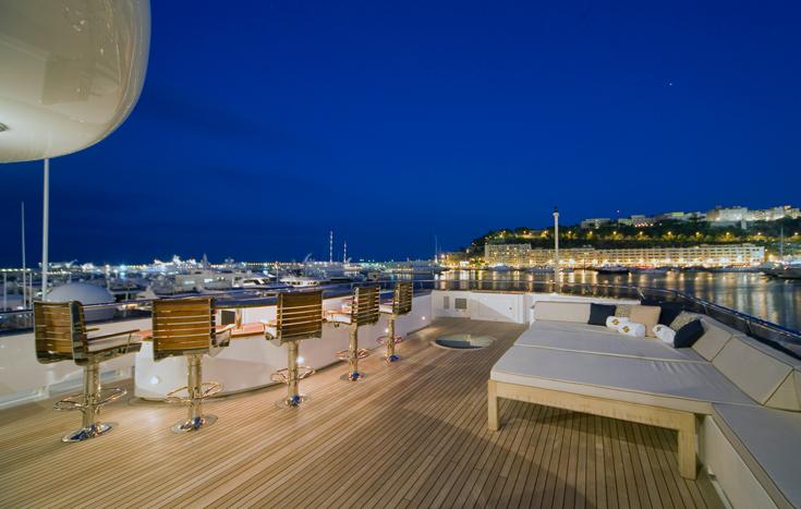 Superyacht NOBLE HOUSE -  Sundeck bar