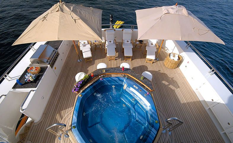 Superyacht NOBLE HOUSE -  Sundeck from above