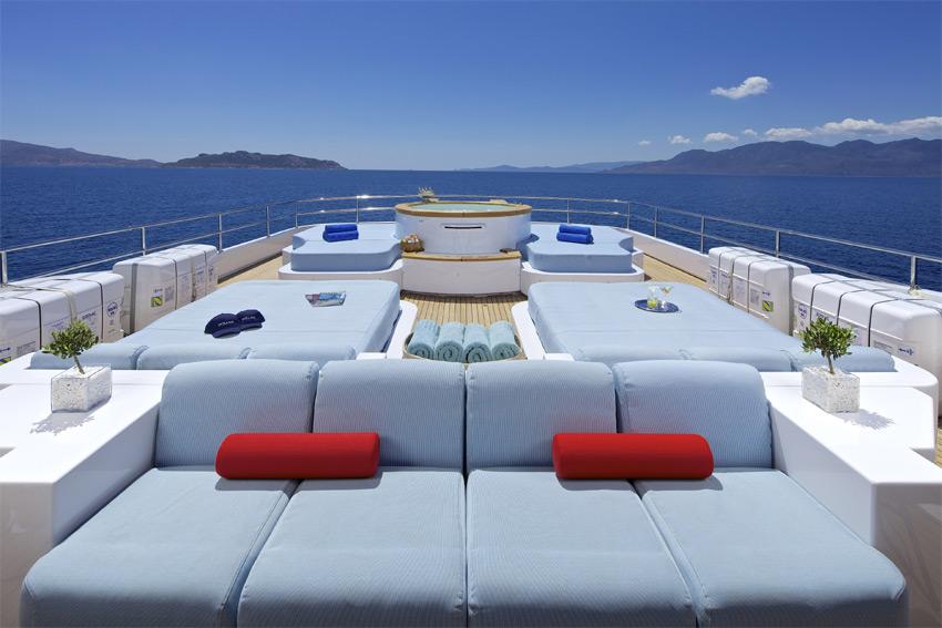 Superyacht OCEANOS -  Sundeck Seating