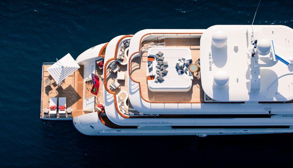 Superyacht PRIDE -  Decks From Above