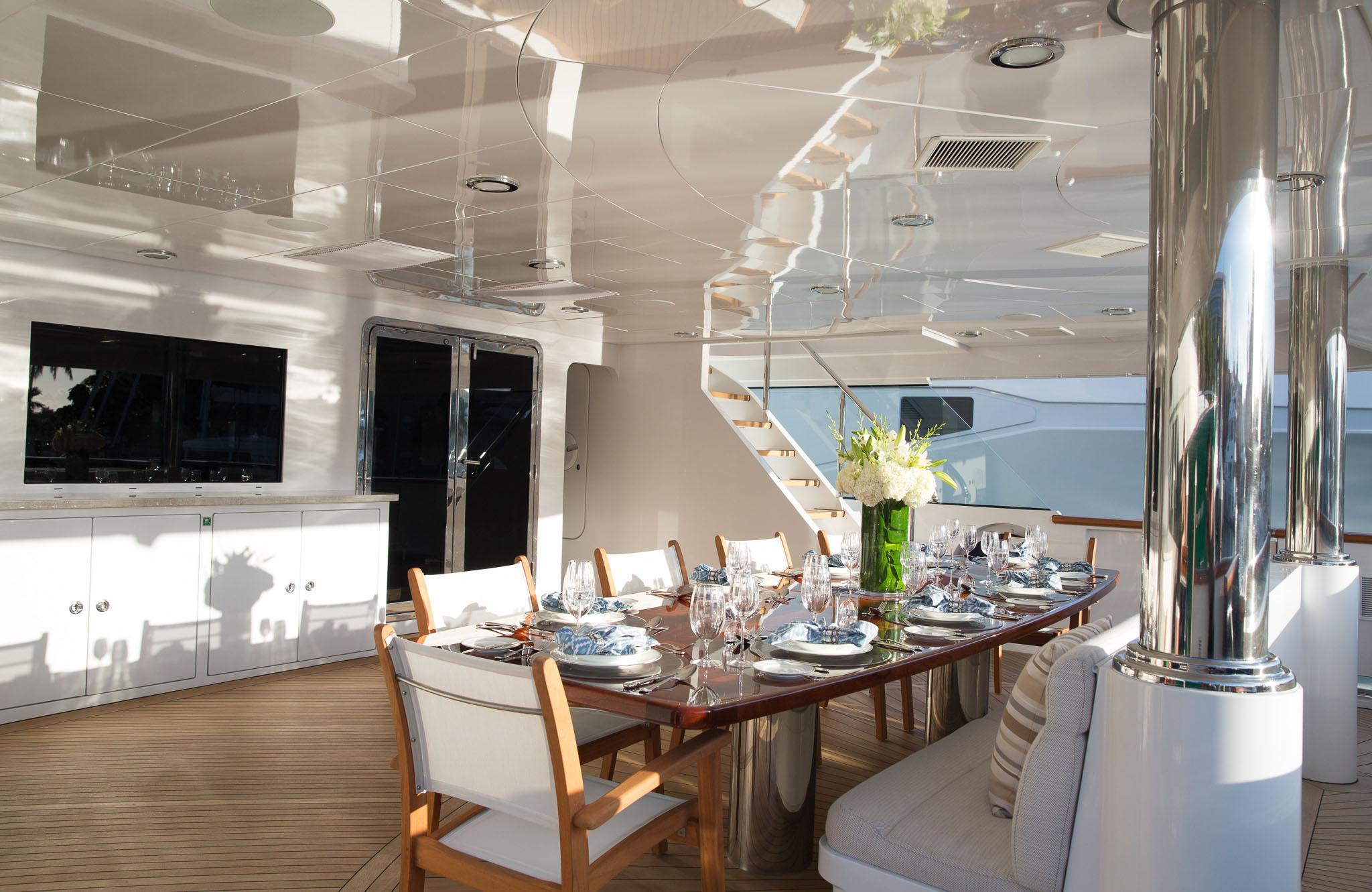 Superyacht REBEL - Main deck aft