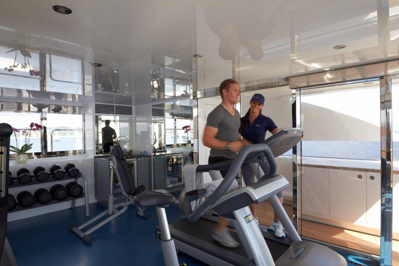 Superyacht TITANIA -  New Gym