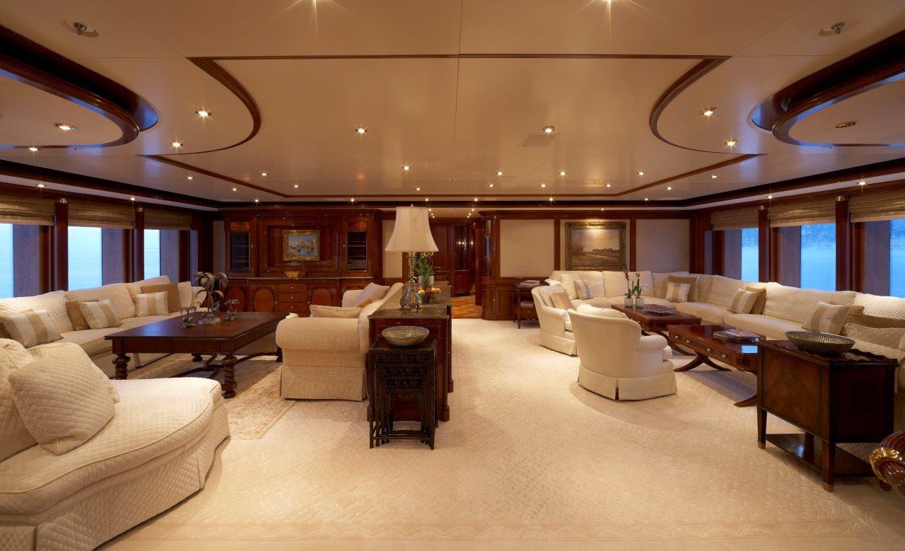 Superyacht TITANIA -  Upper Saloon