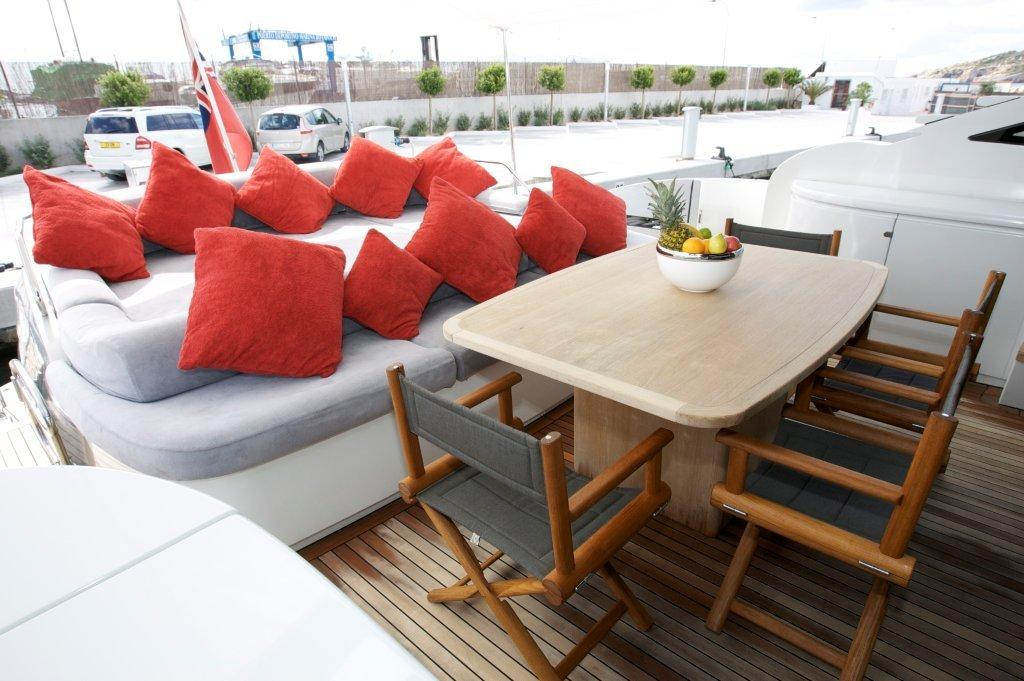 TIGER LILY OF LONDON -  Aft Deck