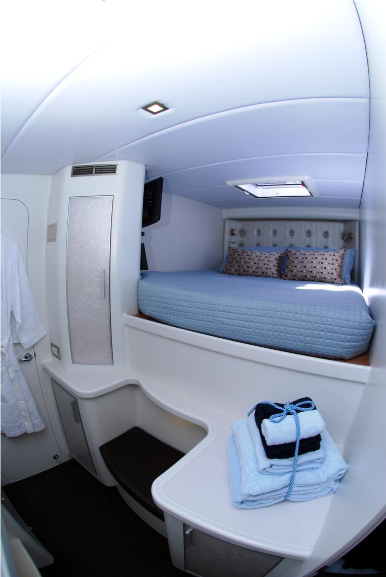 Te Okupu fwd guest cabin