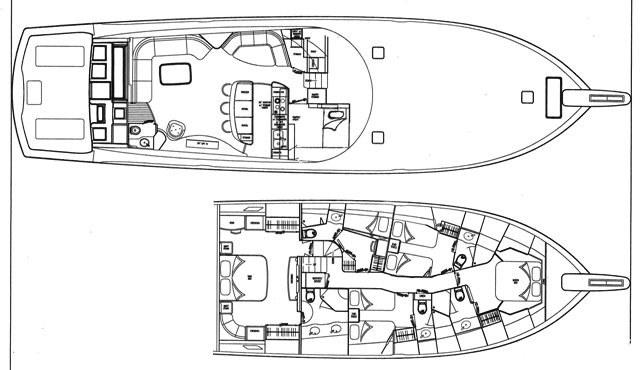 Viking motor yacht MUSTANG SALLY - Layout