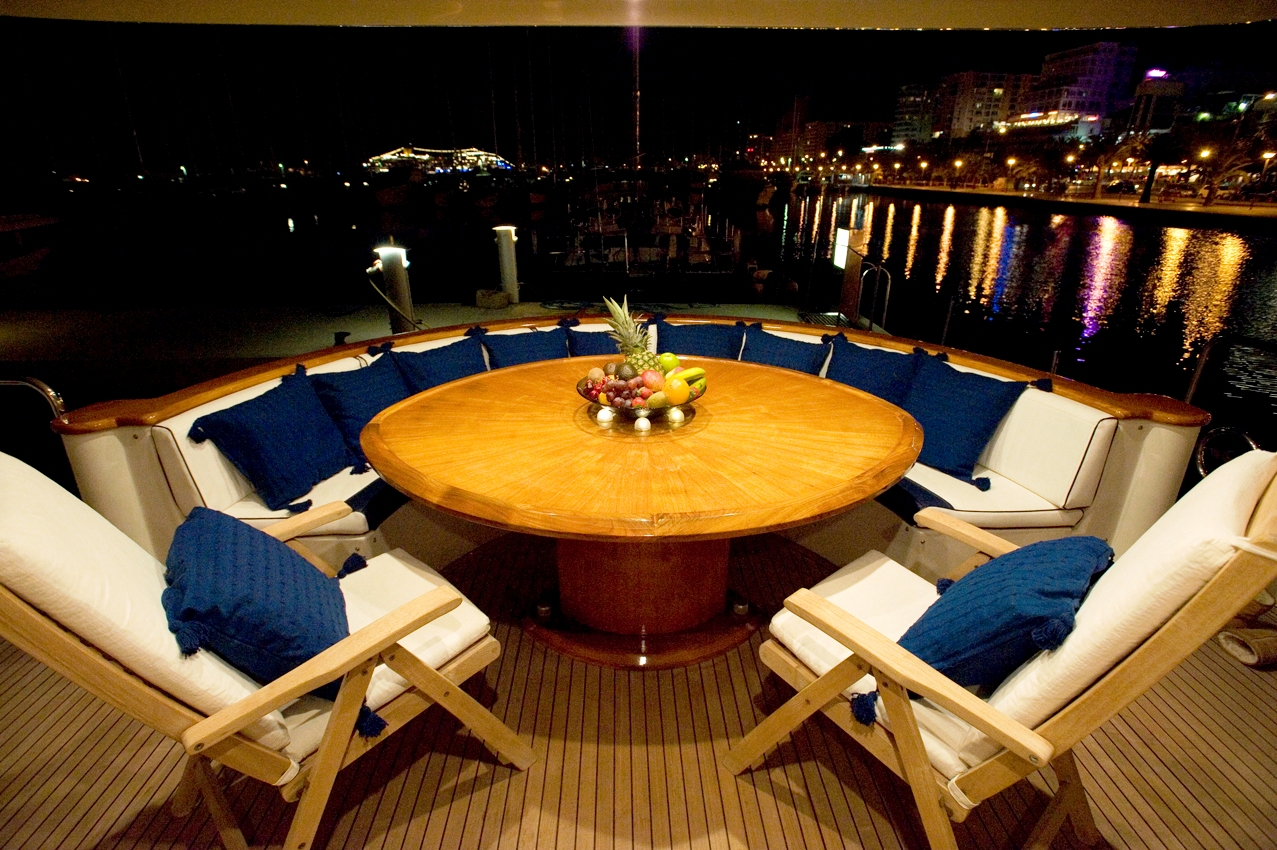 White Fang -  Aft deck at night