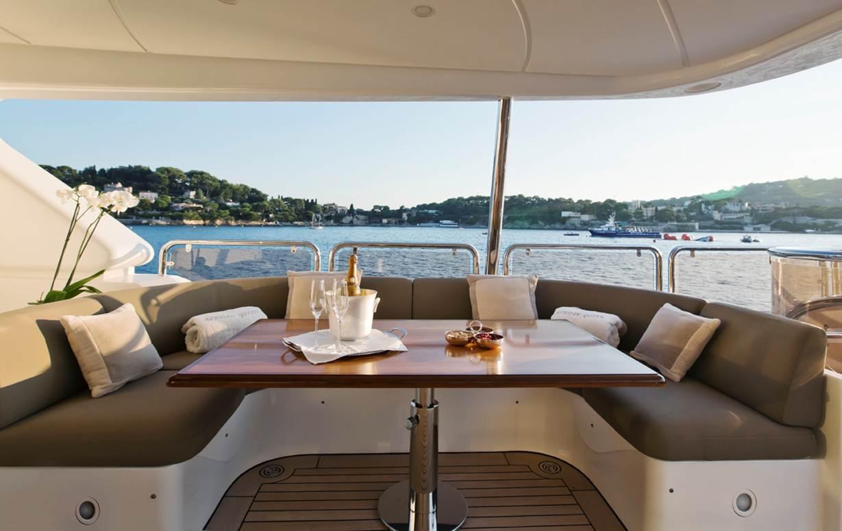 Yacht AFRICAN QUEEN -  Bridge Deck Seating
