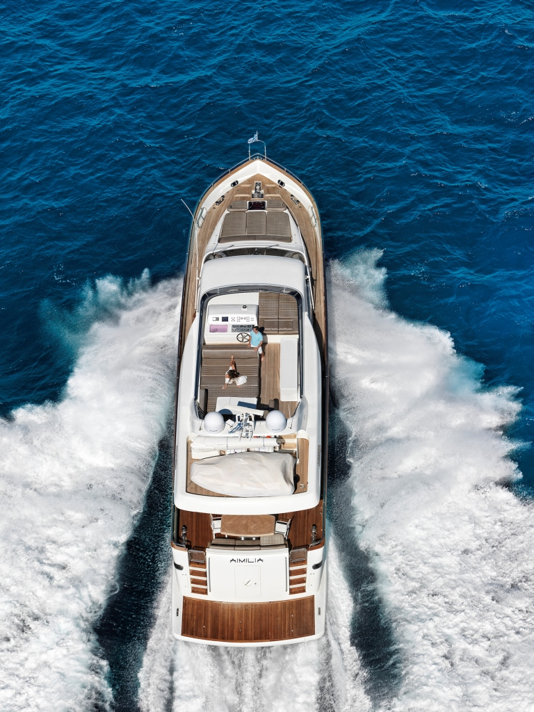 Yacht AIMILIA - From Above