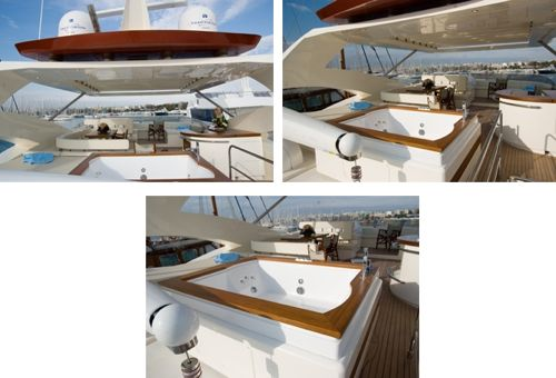 Yacht AMON -  Flybridge and Spa Pool