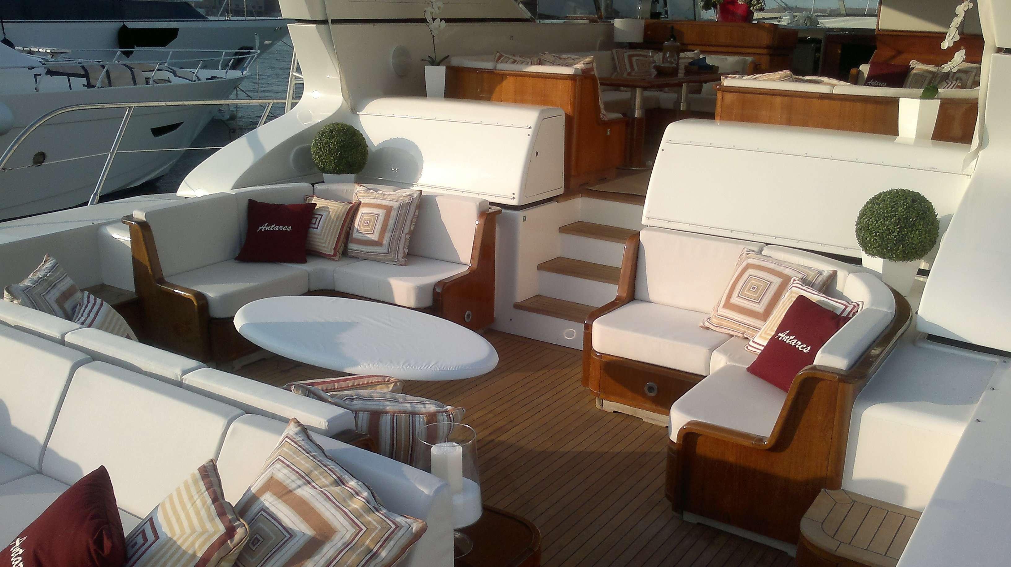 Yacht ANTARES K -  Aft Deck Lounging