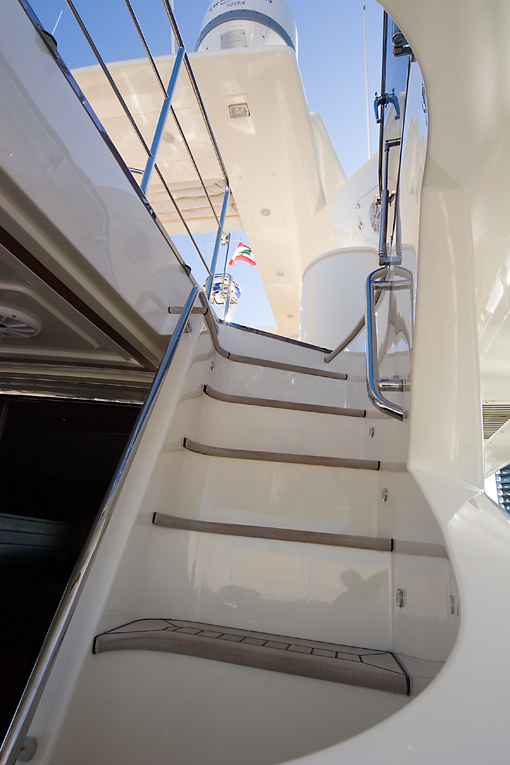 Yacht AQUAHOLIC - Stairs to top deck