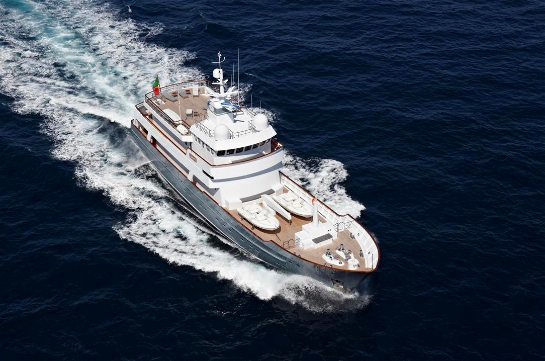 Yacht AXANTHA II -  From Above