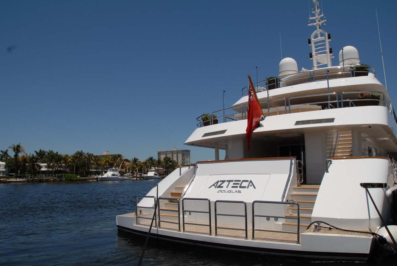 Yacht AZTECA II -  Aft View