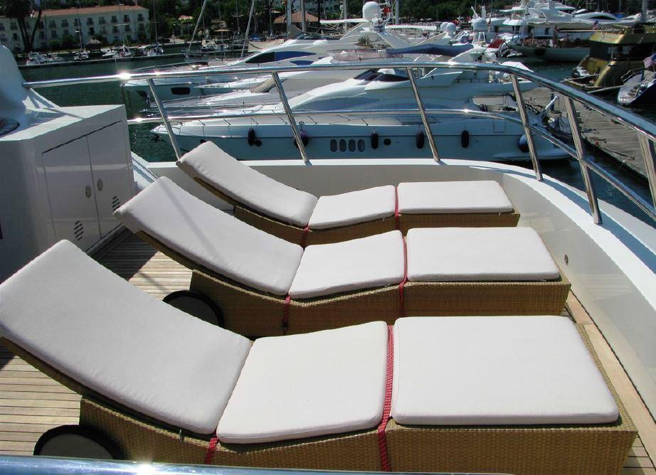 Yacht BANDIDO - Sundeck Sunbeds
