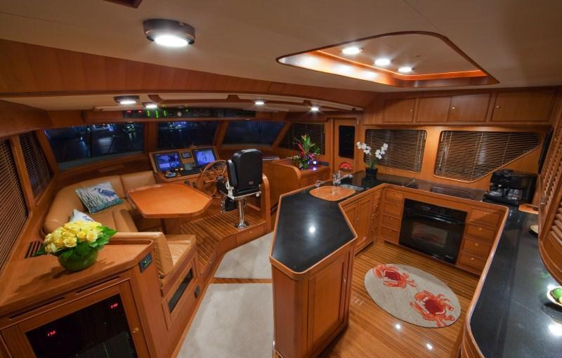 Yacht BLUE HERON -  Galley and Piliothouse