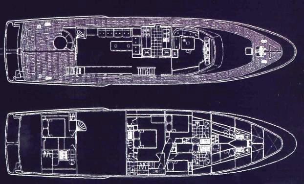 Yacht BLUE LADY -  Layout