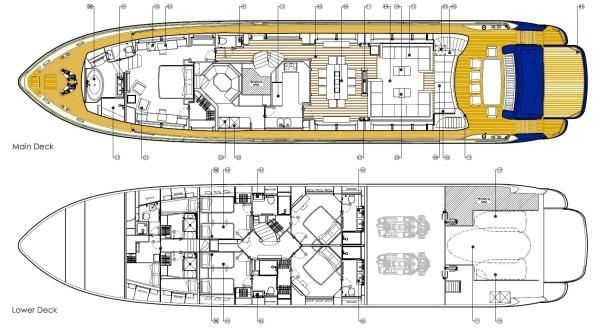 Yacht CASSIOPEIA -   Layout