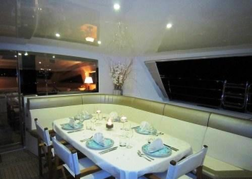 Yacht CATTITUDE -  Aft Deck Dining