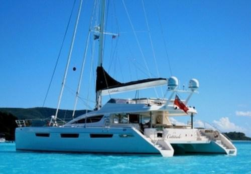 Yacht CATTITUDE -  At Anchor