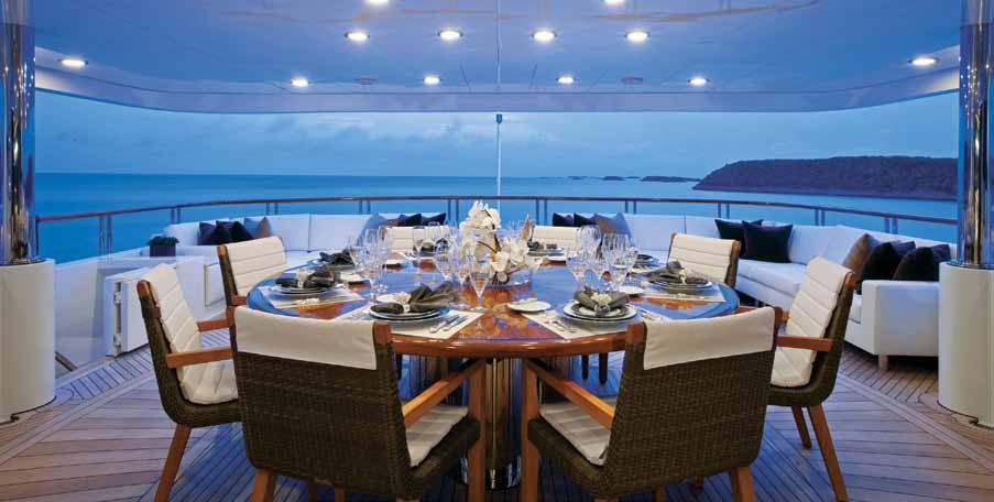 Yacht COCKTAILS -   Skylounge Deck Al Fresco Dining