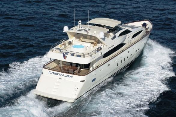 Yacht CRISTALEX -  Aft View